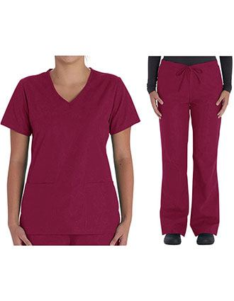 Vital Threads Women's V-Neck Scrub Sets