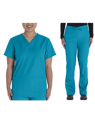 Vital threads Unisex Solid Scrub Set