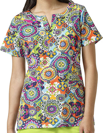 Vera Bradley Signature Women's Linda Notch Neck Rio Medallion Print Top