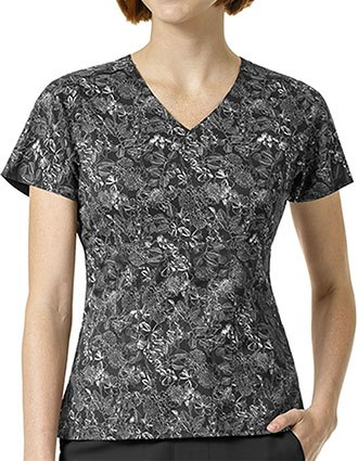 Vera Bradley Halo Women's FRIDA Empire Waist Wildflower Grove Print Scrub Top