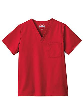 White Swan Fundamentals Unisex One Pocket Basic Scrub Top