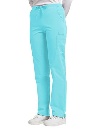 Whitecross FIT Women's Stretch Drawstring Cargo Scrub Pant
