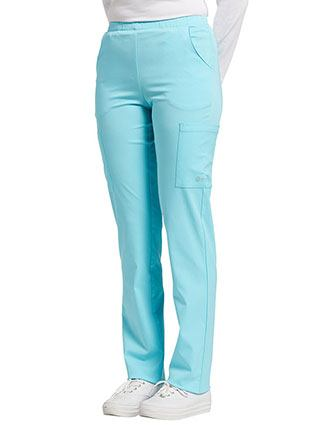 Whitecross FIT Women's Elastic Waist Cargo Scrub Pants