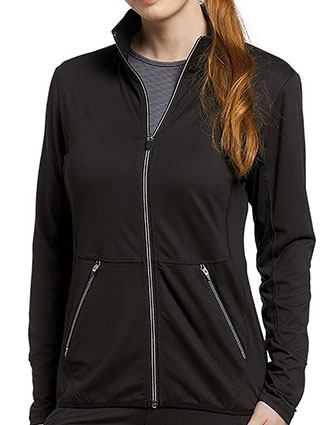 White Cross FIT Women's Sporty Zip Front Solid Scrub Jacket