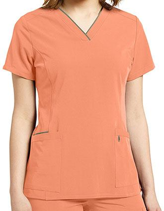 Whitecross Marvella Women's Contrast Trim V-Neck Scrub Top