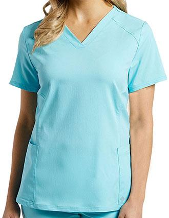 Whitecross FIT Women's Sporty V-Neck Scrub Top