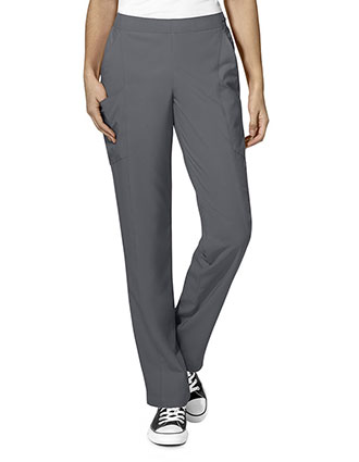 Wonderwink W123 Women's Elastic And Drawstring Waist Flat Front Double Cargo Tall Pant
