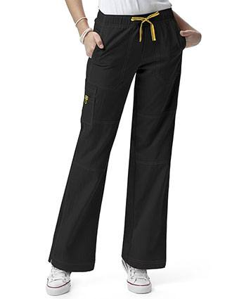 Wink Scrubs Women Sporty Cargo Solid Nursing Pants