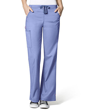 Wink Scrubs WonderFlex Lady Fit Flare Leg Cargo Tall Scrub Pants