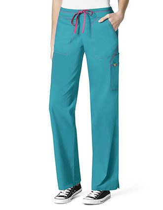WonderWink Seven Flex Women's 7 Utility Pockets Tall Scrub Pant