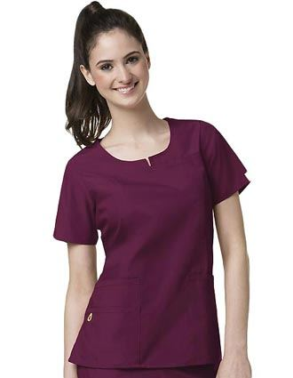 Wink Scrubs Women Notched Round Neck Nursing Top