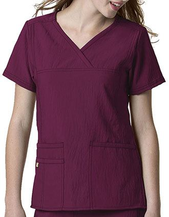Wink Scrubs Women Solid Y-Neck Multi-Pocket Nursing Top