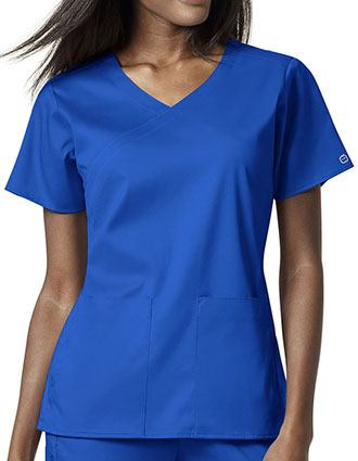 WonderWink PRO Women's Mock Wrap Scrub Top