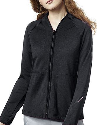 WonderWink Women's Fleece Solid Scrub Jacket
