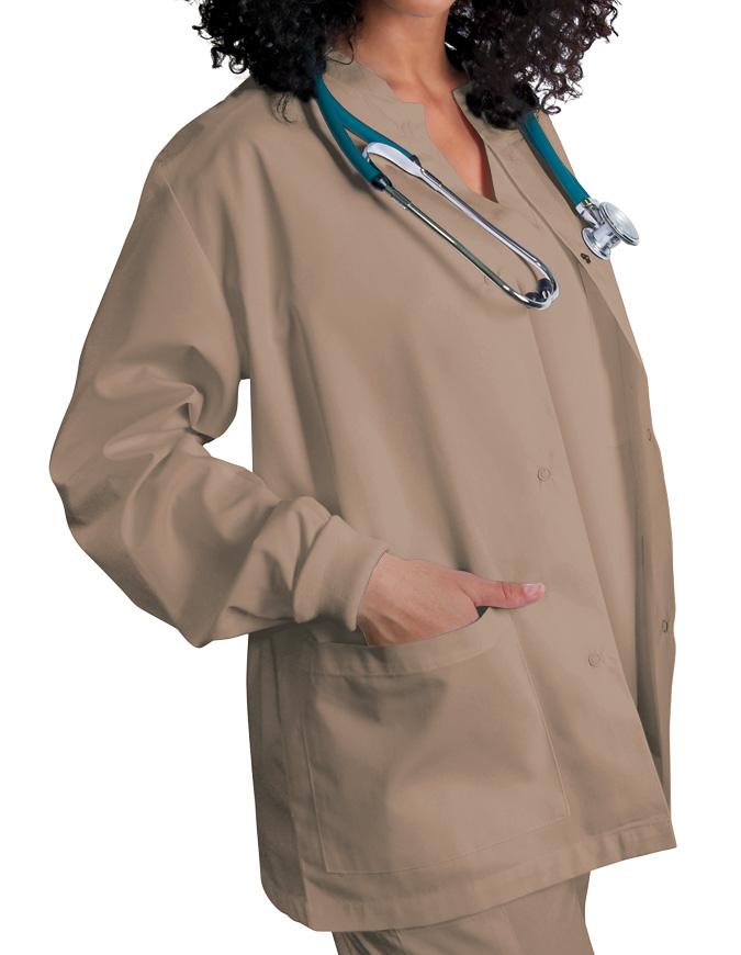 Adar Uniforms Womens Two Pocket Warm-Up Scrub Jacket