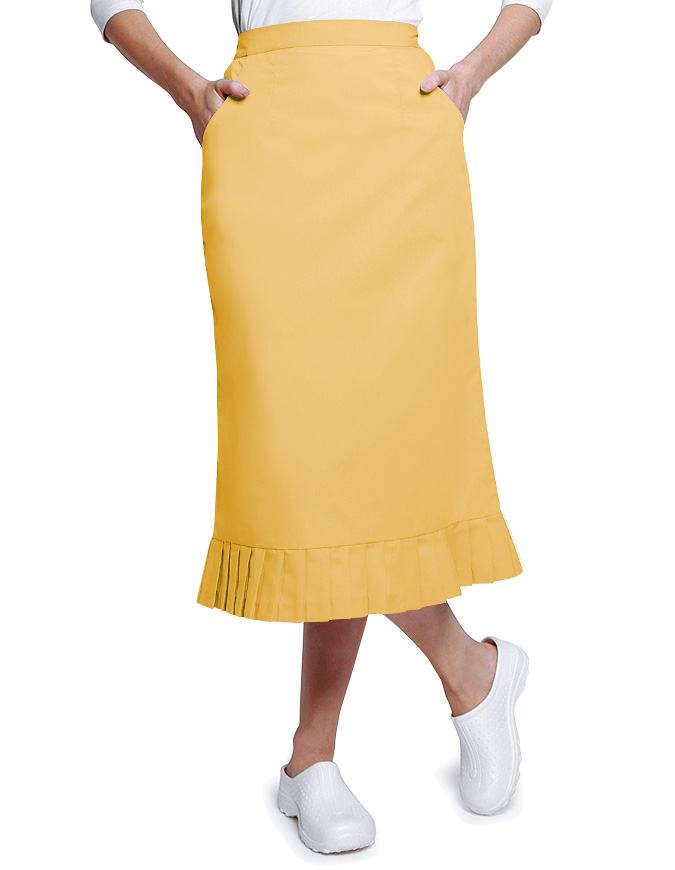 Adar Two Pocket Mid Calf Length Uniform Skirt