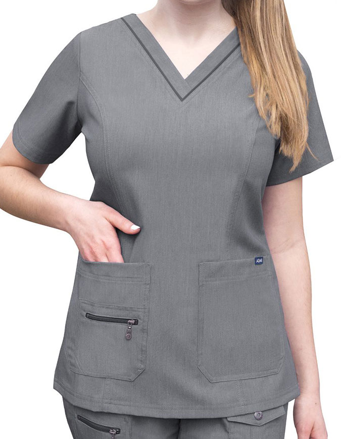 Adar Pro Women's Elevated Solid Scrub Top