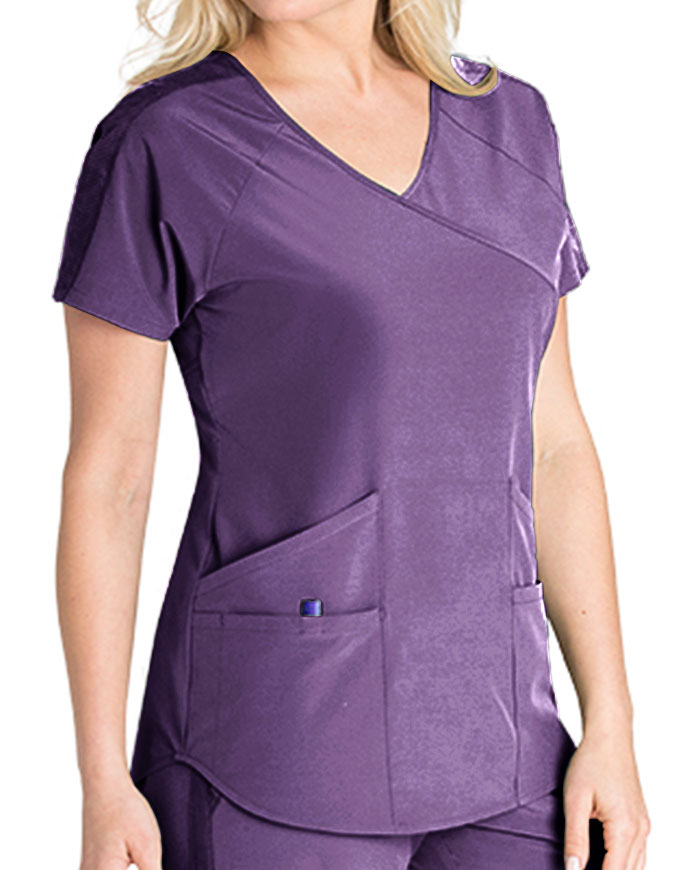 Barco One Wellness Women's 4-Pocket V-Neck Scrub Top