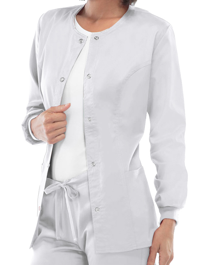 Cherokee Luxe Women Rayon Warm-Up Scrub Jacket