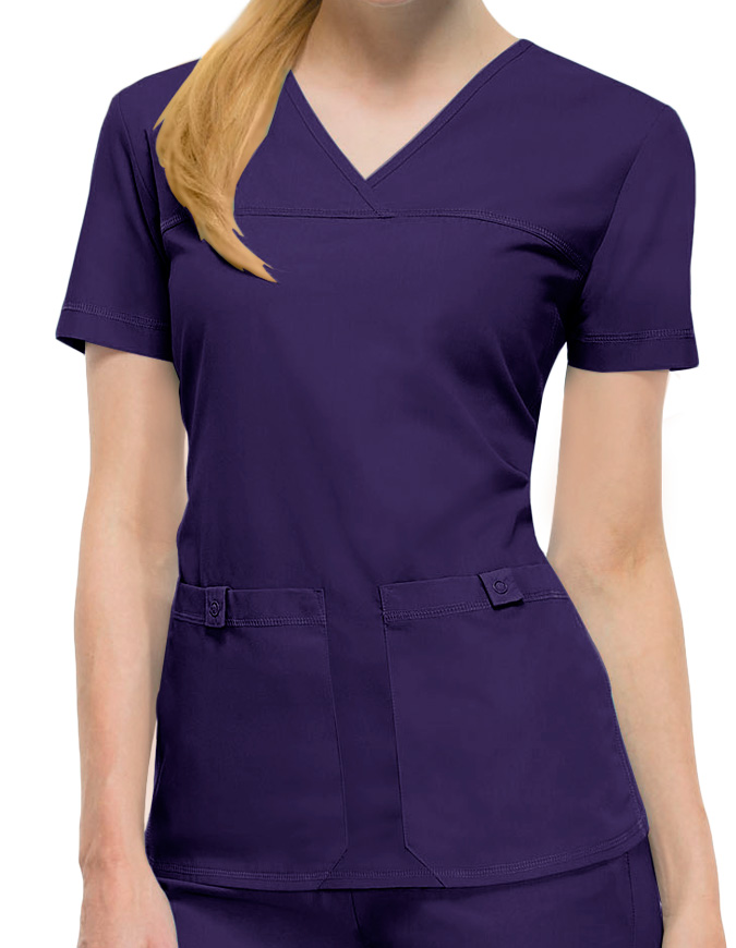 Cherokee Pro-Flexibles Women Two Pocket V-Neck Nurse Scrub Top