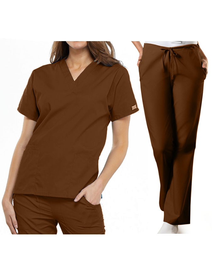 Cherokee Workwear Originals Women's V-Neck Scrub Set