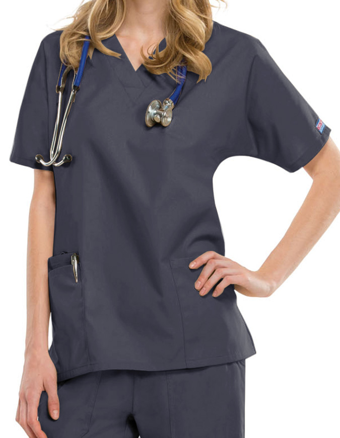 Cherokee Workwear Women's Two Patch Pockets Nurse Scrub Top