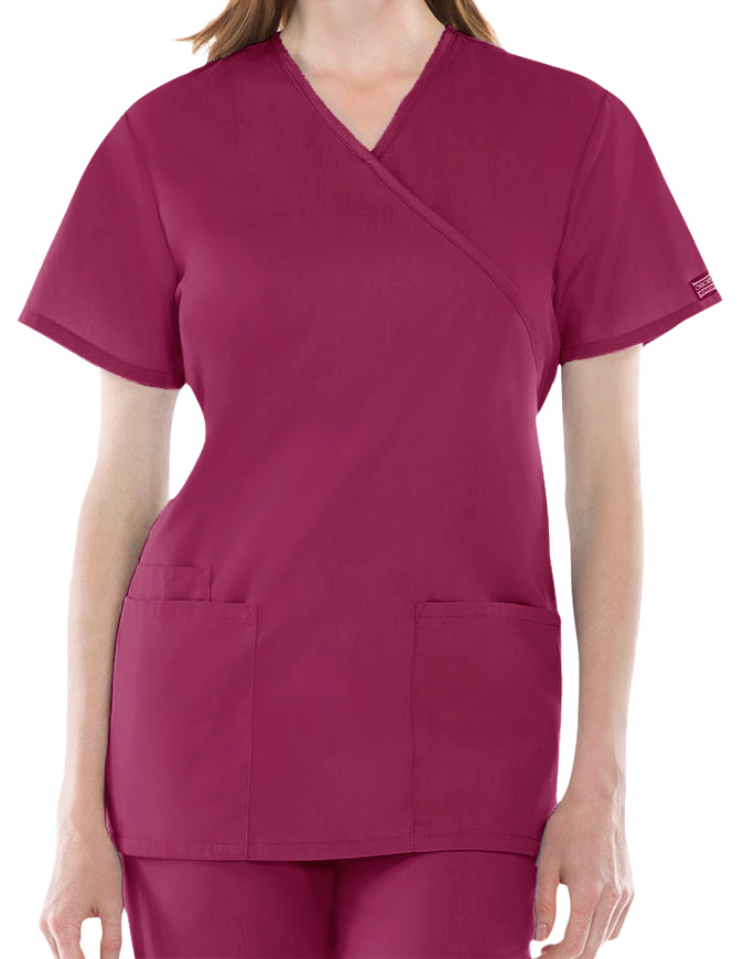 Cherokee Workwear Womens Three Pocket Scrub Top