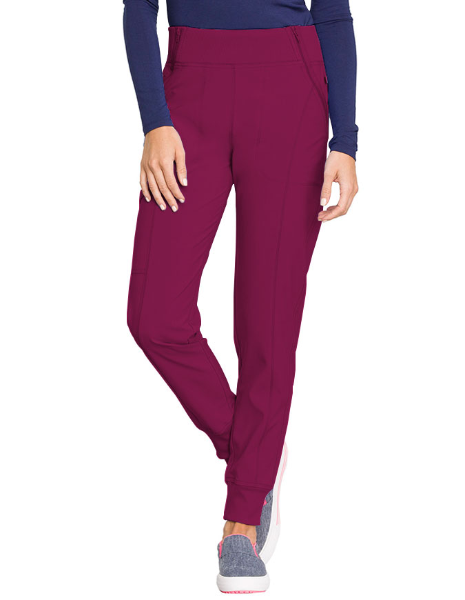 a326c90cbaf Cherokee Infinity Women's Knit Waistband Mid Rise Tapered Leg Jogger Pant