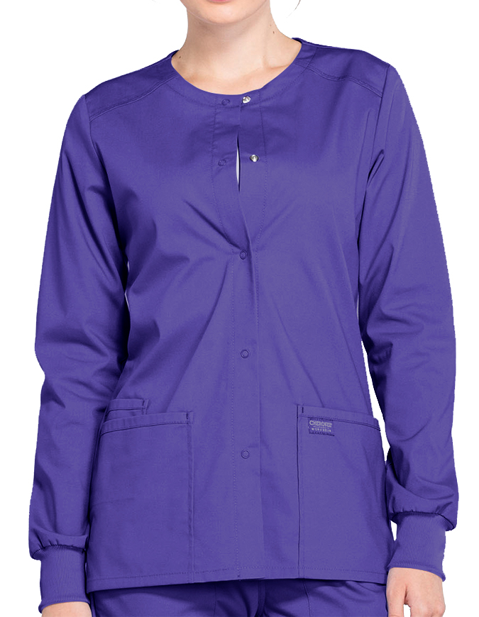 Cherokee Workwear Professionals Women's Snap Front Warm Up Jacket