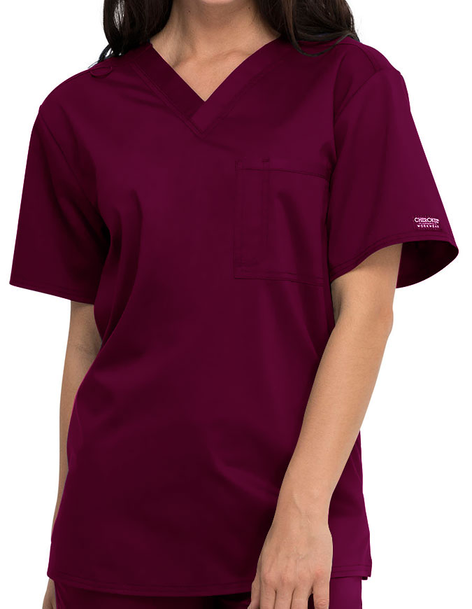 Cherokee Workwear Revolution Unisex 1 Pocket V-Neck Scrub Top