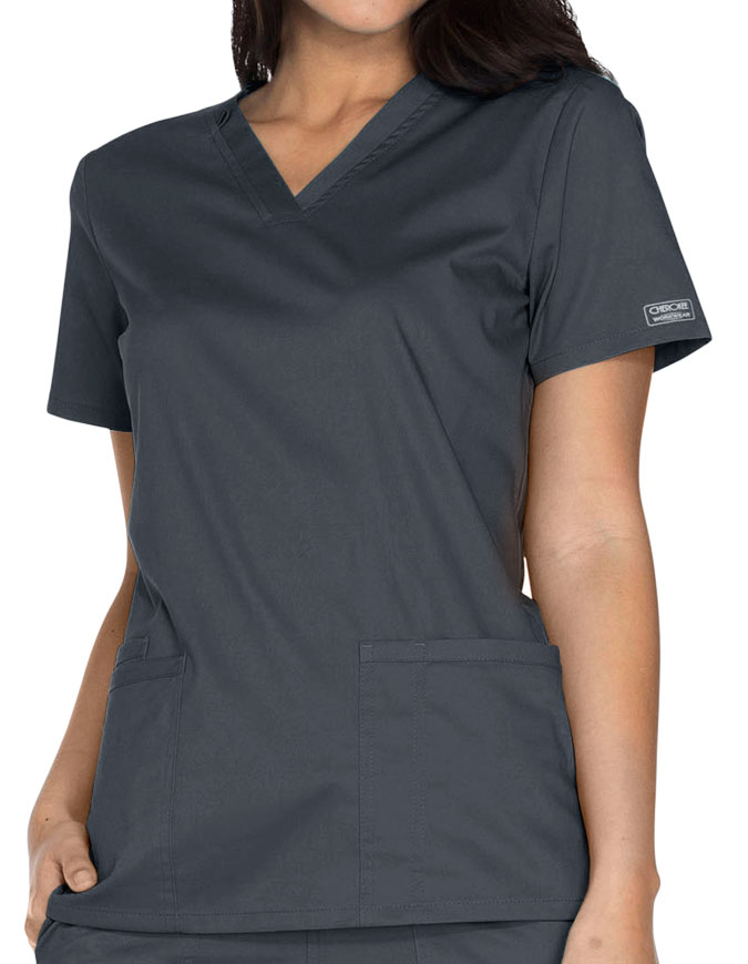 Cherokee Workwear Core Stretch Women's V-neck Basic Scrub Top