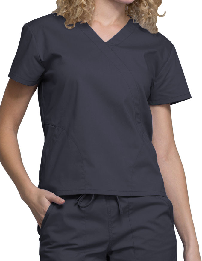 Cherokee Workwear WW Professionals Women's Mock Wrap Top
