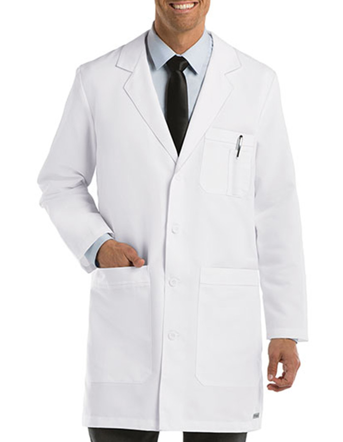 Grey's Anatomy Men's 37 Inches 6-Pockets Long Labcoat