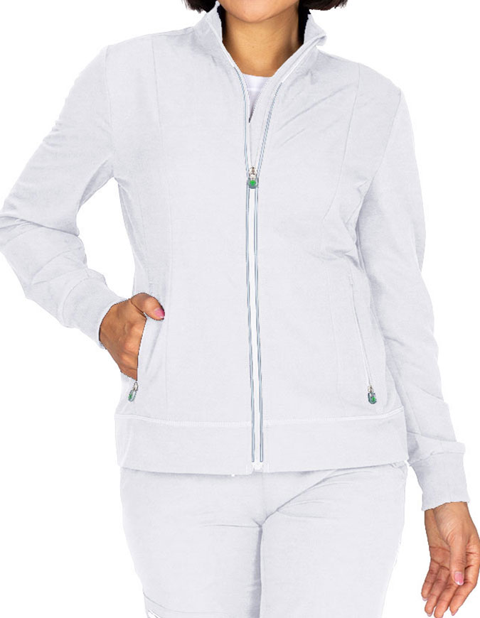 Healing Hands HH 360 Women's Carly Solid Scrub Jacket