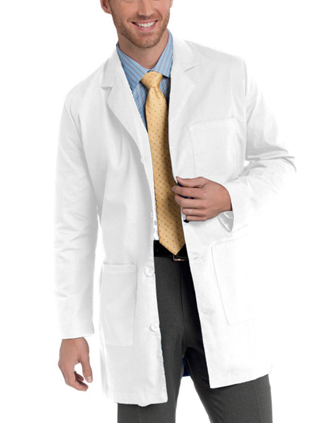 Landau Mens 35 Inches Three Pocket Colored Medical Lab Coat