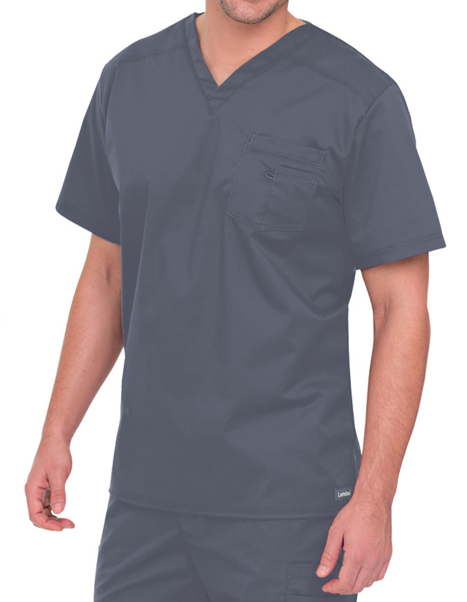 868798ffea9 Landau 4098 Men's Stretch V-neck Solid Nursing Scrub top for $22.97 |  PulseUniform