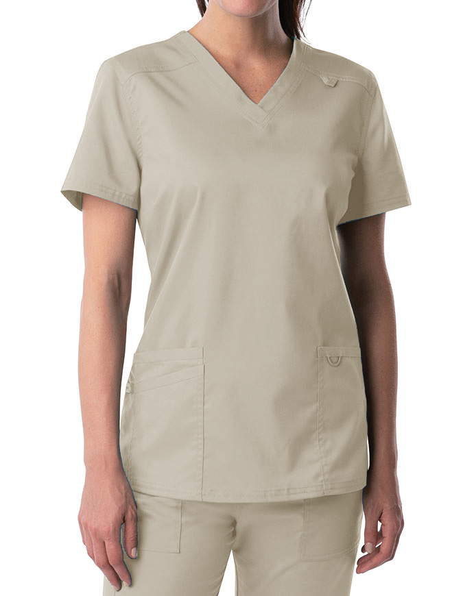 Landau Proflex Women's Modern V-Neck Tunic Solid Scrub Top