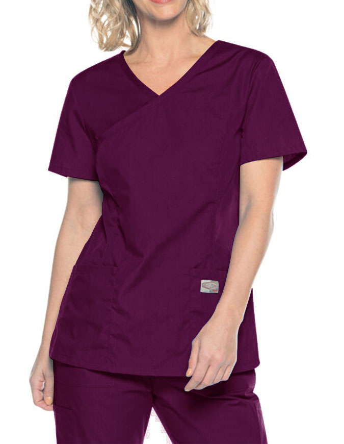 Landau Scrubzone Womens Modern Fit Surplice Top