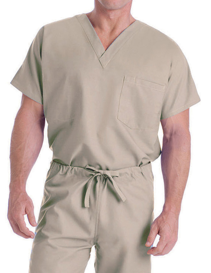 Landau Unisex Two Pocket V-Neck Reversible Tall Nurses Scrub Top