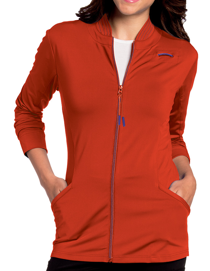 Landau Women's Kristen Knit Zip Front Jacket