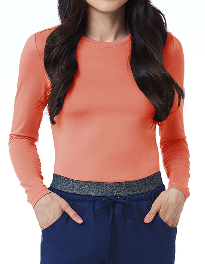 Maevn Bestee Women's Basic Long Sleeve Underscrub Tee