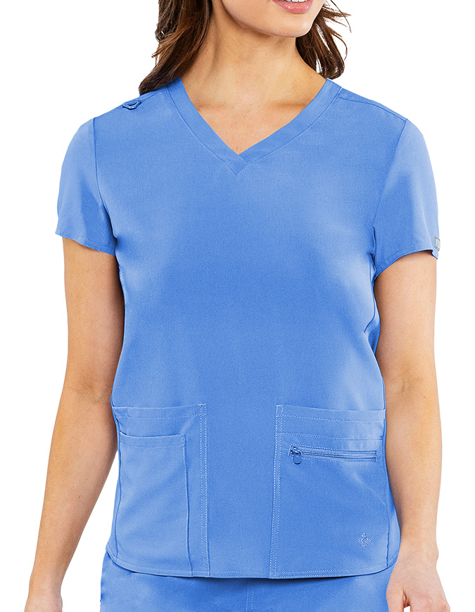 Med Couture Energy Women's Knit Back Scrub Top