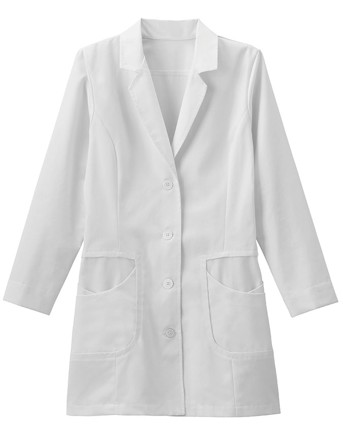 META Pro Women's 33 Inch High Collar Stretch Lab Coat