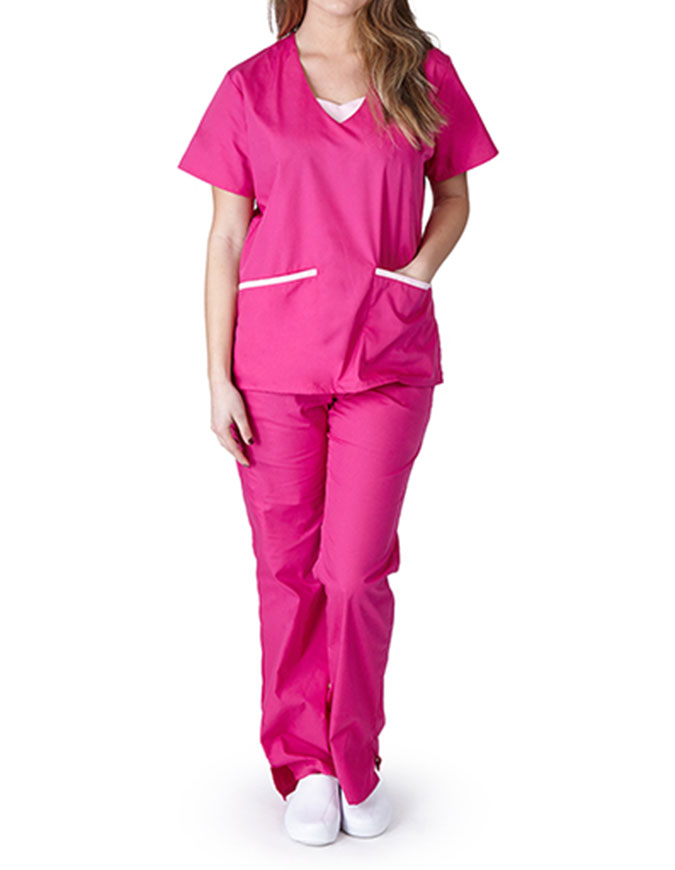 Natural Uniforms Women's V-Neck Scrub Set