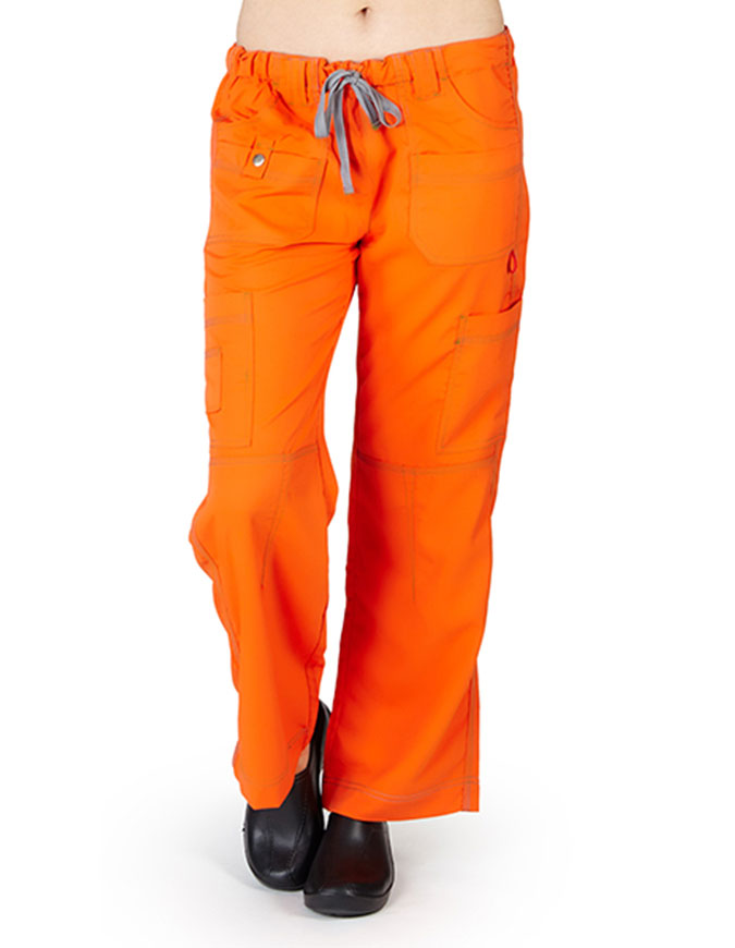 Natural Uniforms Womens Comfort Stretch Elastic Drawstring Waist Cargo Pants