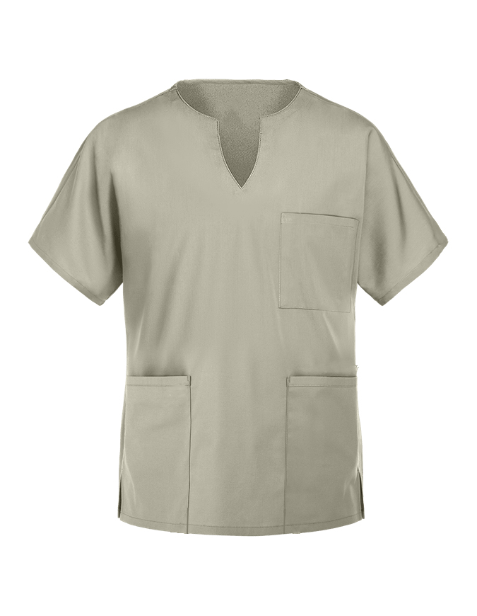 Panda Uniform Women's Three Pocket Split Neck Nursing Scrub Top