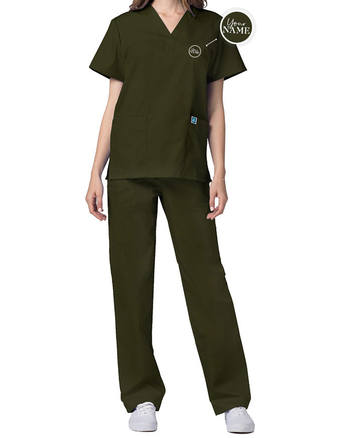 Unisex Basic Nurse Scrub Set