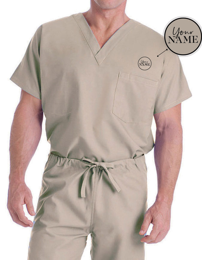 Unisex V-Neck Reversible Scrub Top