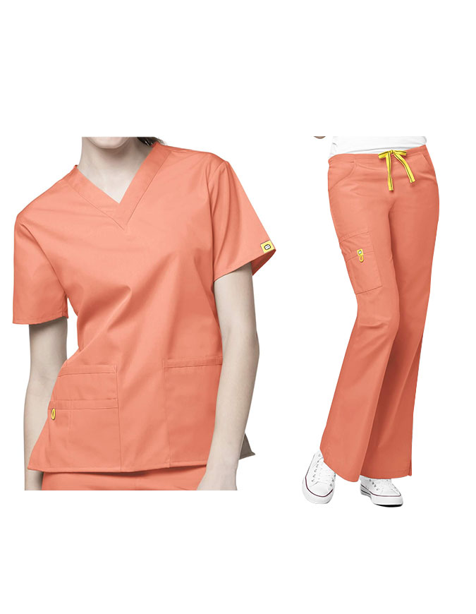 WonderWink's Origins Women's V-Neck Nursing Scrub Set