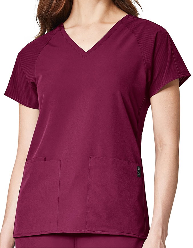 WonderWink Women's Modified Raglan Solid Scrub Top
